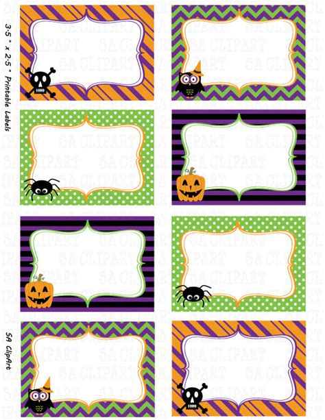 printable ghost name tags items similar to halloween printable labels set quot halloween