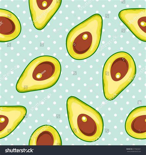 cute avocado pattern seamless vector pattern avocado polka dot stock vector
