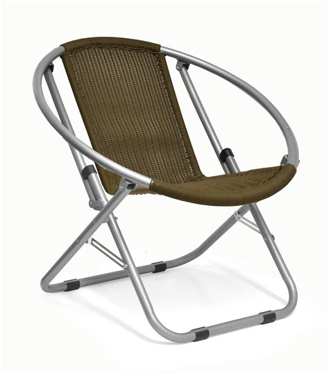 Outdoor Saucer Chair by Shop Outdoor Wicker Web Saucer Chair Brown Ebay