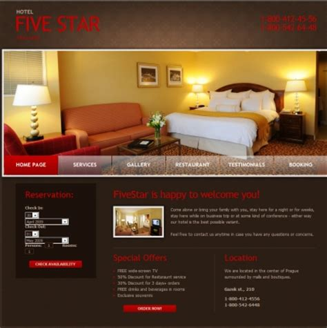 10 free hotel html web sites templates web knowledge free