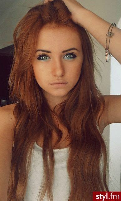 light brown hair color ginger i think it s from a bottle her skin is to tan xd hair