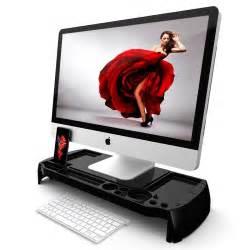 Computer Desk Organizer Monitor Stand Desk Organizer Laptop Computer Storage Utility Station Shelf Slim Ebay