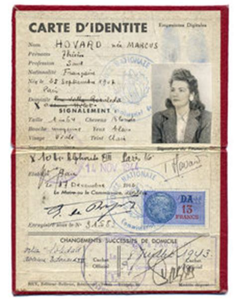 world war 2 identity card template images like ww2 resistance id card showing 1