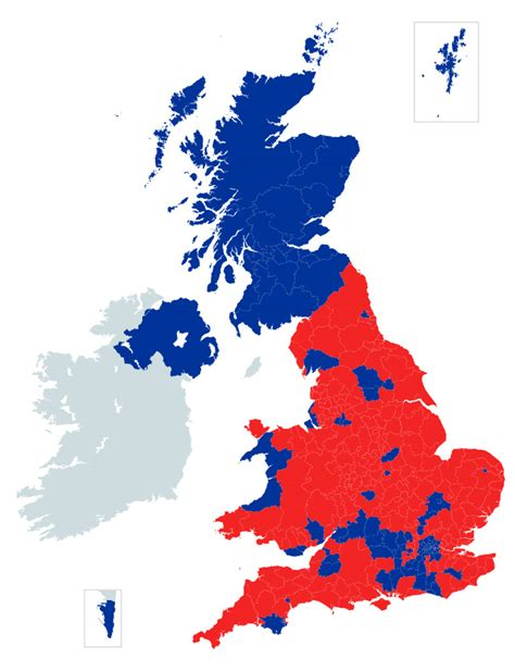 map uk remain leave uk votes to leave the european union ars technica uk