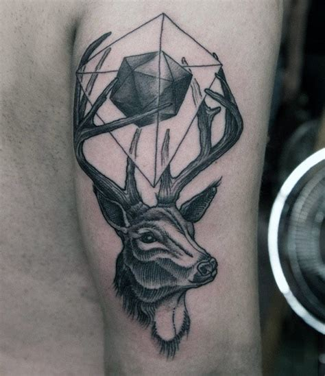 deer antler tattoos for men 70 antler designs for cool branched horn ink