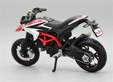 Maisto Motor Ducati Scrambler Yellow Skala 118 1 18 scale black white maisto diecast ducati hypermotard