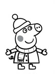 cartoon printable peppa pig christmas coloring pages coloring tone