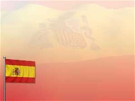 Spain Flag Powerpoint Templates And Backgrounds Free Red Spain Flag Template