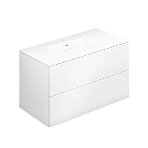 Drawers Block by Cosmic Block Evo Washbasin With Vanity Unit With 2 Drawers