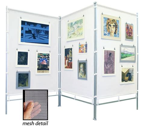 art display systems flourish zig zag meshpanels three panel display walls
