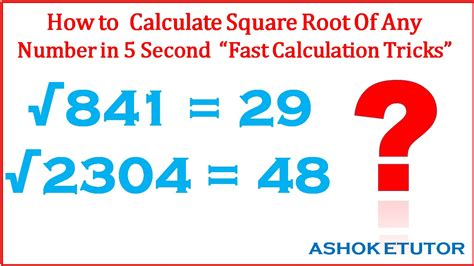 How To Find In How To Find Square Root Of Any Number Fast Math Tricks