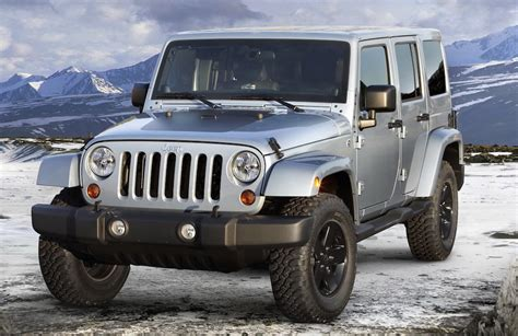 jeep wrangler in the winter special winter editions of jeep wranglers