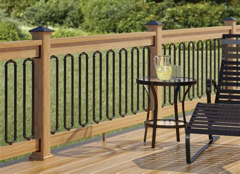 Patio Deck Railing Designs Wrought Iron Deck Railing Designs Check Out 100s Of Deck Railing Ideas Http Awoodrailing