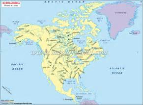 map of america rivers and lakes rivers and lakes
