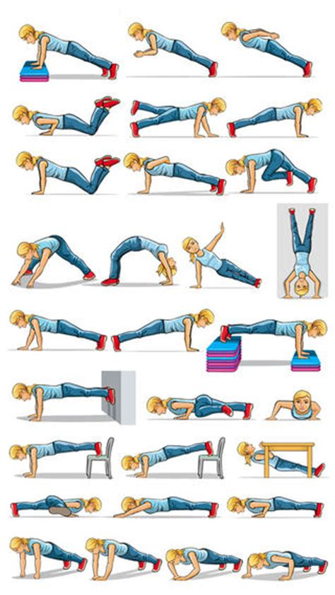 push up fitness exercises strength workouts