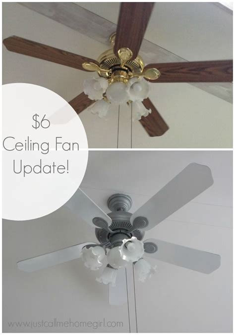 spray paint ceiling fan 6 dollar ceiling fan update ceiling fan spray painting