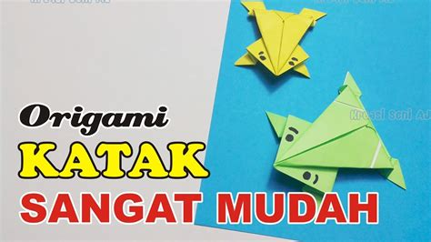 Katak Origami - katak origami tutorial origami handmade