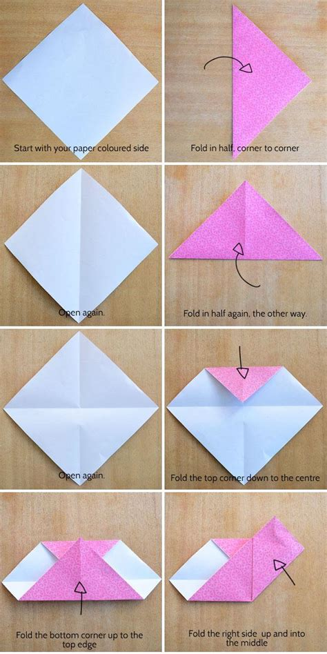 How To Fold Notebook Paper Into A - origami origami how to fold paper into a secret note