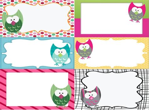 free printable girly name tags owl labels printable owl labels owl and school