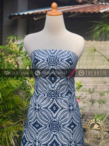 Kain Batik Cap Indigo Biru Fashion Wanita Pria Kemeja Batik jual kain batik bahan baju motif etnik biru dongker