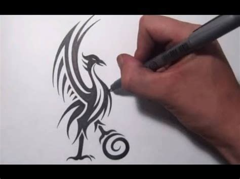 liverpool tribal tattoo liverbird