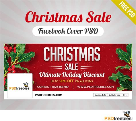 Facebook Gift Card Sale - christmas sale facebook cover psd freebie psdfreebies com