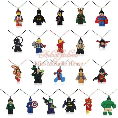 Lego 6096959 Spider Mans Rope 20pcs legos spider chains pendant necklaces rope chain necklace