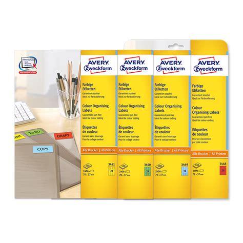 Etiketten Drucken Farbig by Avery Zweckform Universal Etiketten Farbig