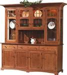 amish dining room 4 door fresno hutch royal santa fe four door hutch and buffet from