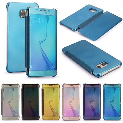 Po Slim Fit Clear Mirror Flip Cover Iphone 6 6s Plus With Front fr samsung galaxy s6 s7 edge mirror clear view window