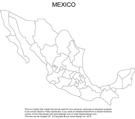 blank map of us canada and mexico blank mexico map