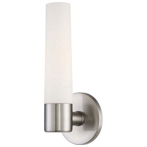 hton bay 3 light brushed nickel bath sconce vanity hton bay arla 1 light brushed nickel sconce 15141 the