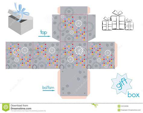 la tipa tipo testo modello per il contenitore di regalo cubo immagine