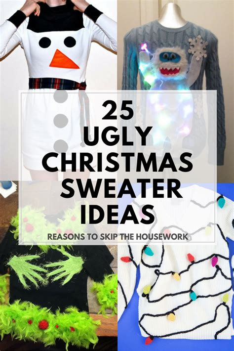 ugly christmas party ideas rewards sweater ideas reasons to skip the housework