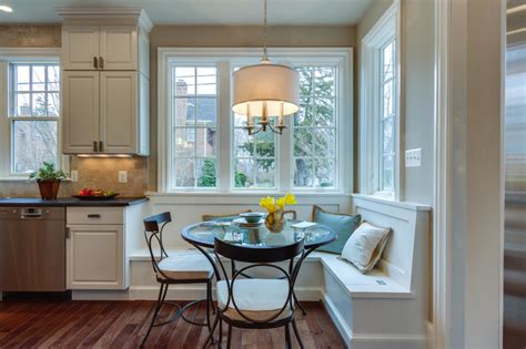 built in breakfast nook built in breakfast nook traditional kitchen dc metro