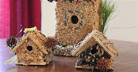 how to make bird seed covered bird houses crafty b tch