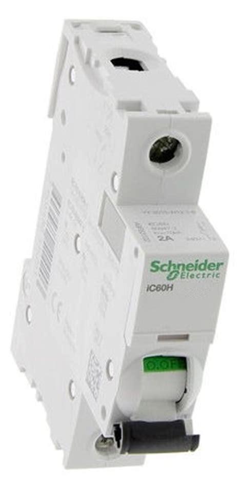 Mcb Schneider 1 Phase 6a 20 A schneider electric a9f53106 6a single pole b type ic60h mcb c60hb106 kelvelec electrical