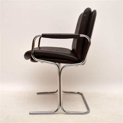 retro chrome dining chairs set of 4 retro leather chrome dining chairs by pieff