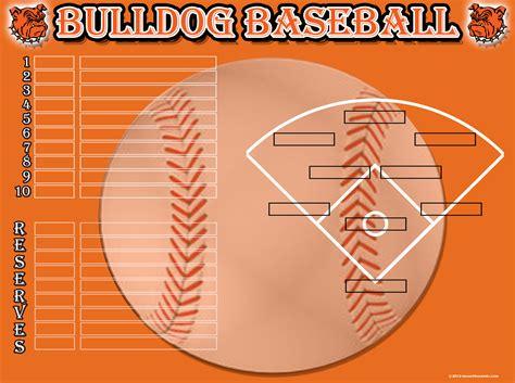 baseball depth chart template baseball
