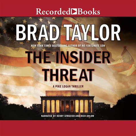 operator a pike logan thriller books the insider threat audiobook by brad for