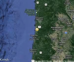 oregon coast popular tourist places satellite map