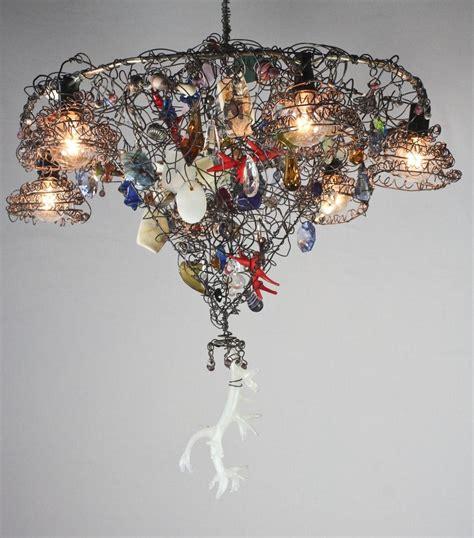 Handmade Chandelier - custom made handmade chandelier with candelabra bulbs by