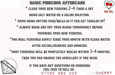 Piercings Aftercare For 2