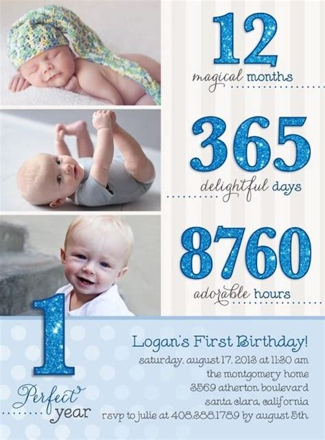 1st birthday invitations boy templates birthdays boys and baby boy on