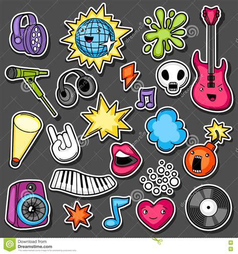 imagenes de notas musicales kawaii music party kawaii sticker set musical instruments