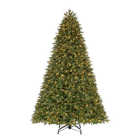 dunken quick set christmas tree home accents 9 ft pre lit led stamford fir set artificial tree with