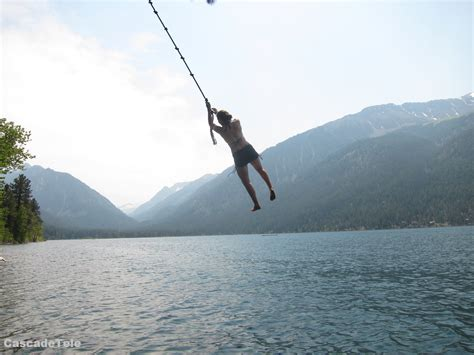 water rope swing wallowa lake eagle cap backcountry