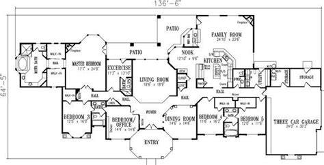 5 bedroom one story house plans unique single story house plans with 5 bedrooms new home plans design