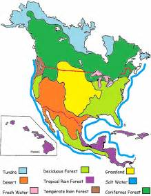 color coded map of canada biome map key