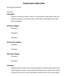 Essay Outline Exles That You Can Use by Blank Outline Template 7 Free Sle Exle Format Free Premium Templates
